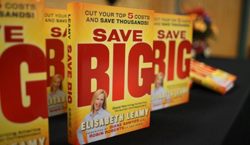 Author-Elisabeth Leamy-Critically acclaimed book Save BIG