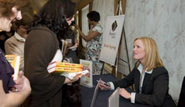 Author-Elisabeth Leamy-Signs Save BIG at Northern Virginia Women's Center
