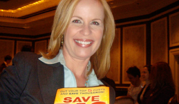 Author-Elisabeth Leamy-With her book-Save BIG