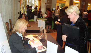 Author-Elisabeth Leamy-Signs Save BIG for Fan At the Northern Virginia Women's Center Conference