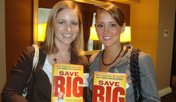 Media Relations Coach-PR Consultant-Elisabeth Leamy-Two Fans of her book Save BIG