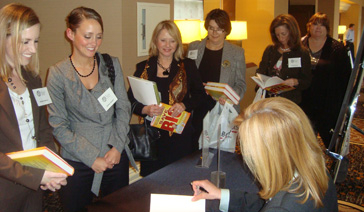 Media Relations Coach-PR Consultant-Elisabeth Leamy-With Fans at a book signing