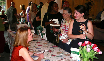 Author-Elisabeth Leamy-At the book party for The Savvy Consumer