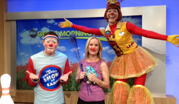Spokesperson-Brand Ambassador-Subject Matter Expert-Elisabeth Leamy-with the Ringling Bros. Clowns
